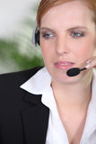 Receptionist with head-set Royalty Free Stock Image