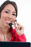 Receptionist with headset Royalty Free Stock Photo