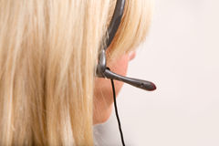 Receptionist Headset Detail Royalty Free Stock Image