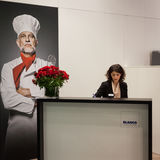 Receptionist at Host 2013 in Milan, Italy Royalty Free Stock Image