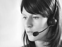 Receptionist 2 stock image