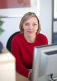 Receptionist in office Stock Photo