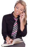 Receptionist or secretary making an appointment Stock Photography