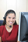Receptionist sorridente Immagine Stock