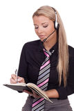 Receptionist taking messages Royalty Free Stock Photo
