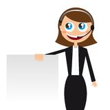 Receptionist vector Stock Images
