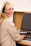 Receptionist With Headset Royalty Free Stock Photos