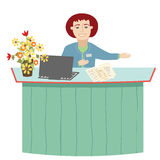 The Receptionist Royalty Free Stock Photos
