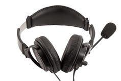 Receptor de cabeza con el micrófono imagen de archivo