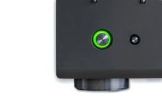 Receptor de canto do avoirdupois com o botão das energias verdes Fotos de Stock Royalty Free