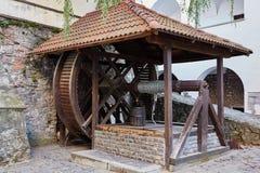Receptor de papel de agua viejo Mukachevo Castillo de Palanok Fotografía de archivo libre de regalías