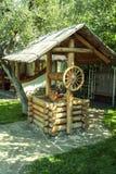 Receptor de papel de madera antiguo Día asoleado del verano Fotografía de archivo