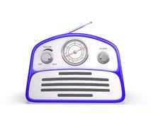 Receptor de rádio do estilo retro azul velho do vintage Imagem de Stock Royalty Free