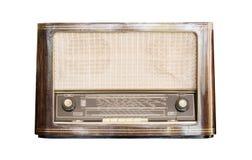 Receptor de rádio velho do isolado do século passado Imagem de Stock Royalty Free
