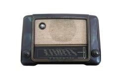 Receptor de rádio velho do isolado do século passado Foto de Stock Royalty Free