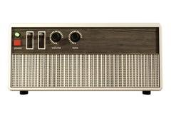 Receptor de radio aislado en blanco Imagenes de archivo