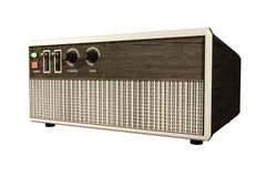 Receptor de radio aislado en blanco Foto de archivo