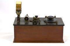Receptor de radio cristalino de la antigüedad Foto de archivo