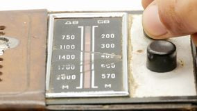 Receptor de radio 4k del viejo vintage soviético metrajes