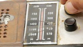 Receptor de radio 4k del viejo vintage sovi?tico almacen de video