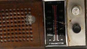 Receptor de radio 4k del viejo vintage sovi?tico metrajes