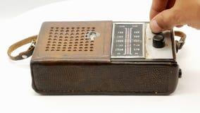 Receptor de radio 4k del viejo vintage sovi?tico almacen de metraje de vídeo