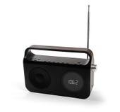 Receptor de radio portátil aislado en blanco Fotografía de archivo