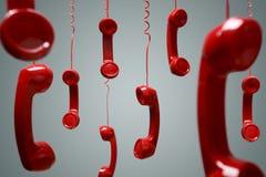 Receptor de teléfono rojo Fotografía de archivo libre de regalías