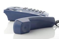Receptor de teléfono sobre blanco Imagenes de archivo