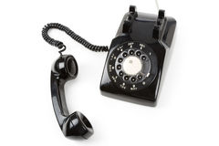 Receptor de telefone preto fotografia de stock