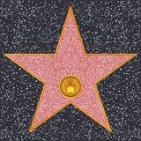 Receptor de televisión de la estrella (paseo de Hollywood de la fama) Foto de archivo