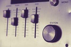 Receptor del audio del vintage Foto de archivo