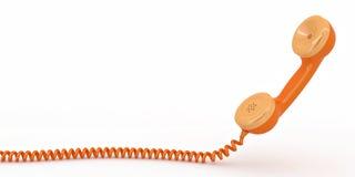 Receptor del teléfono en el fondo aislado blanco Foto de archivo libre de regalías
