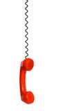 Receptor y cuerda de teléfono Imágenes de archivo libres de regalías