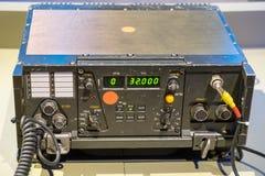 Receptor y transmisor militares de las comunicaciones del vintage foto de archivo libre de regalías