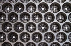 Receptores de papel plásticos de la bandeja. Fotos de archivo libres de regalías