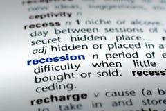 Recesión imagen de archivo libre de regalías