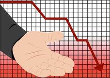 Recesión de la caída de la bolsa Imagenes de archivo