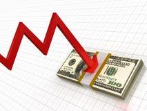Recesión financiera Foto de archivo libre de regalías