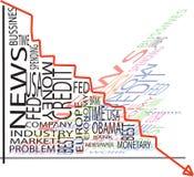 Recesion graph Royalty Free Stock Photos