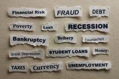 recesja Obraz Stock