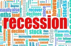 recesja ilustracja wektor