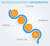 Recesja biznes Infographic royalty ilustracja