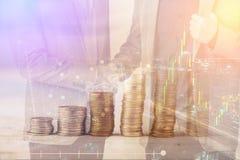 Recesja, globalnej gospodarki kryzysu pojęcie Opadająca akcyjna ocena Obraz Royalty Free