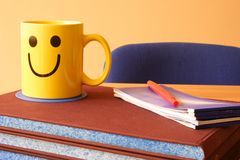 Recess. Items in the bureau and smiling jug Royalty Free Stock Photography