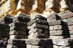 Recess wood twelve base laterite stone shadow light Royalty Free Stock Photo