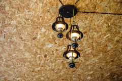 Recessed ceiling lights in room Royalty Free Stock Images