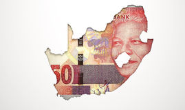 Recessed Country Map South Africa Stock Image