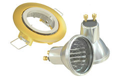 Recessed light with LED (Light Emitting Diode) lamps, 3D renderi Stock Photography