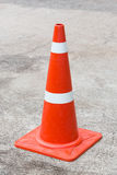 Recessed reflective traffic cone Stock Image